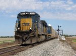 CSX 7573 & 3053 head south at track speed with Q231