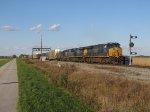 Q365 rolls south past the South Deshler CPL