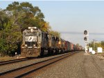 15N comes west led by 3 EMD's and a GE