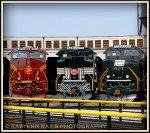 NS ES44AC 8102, SD70ACe 1066 & 1073