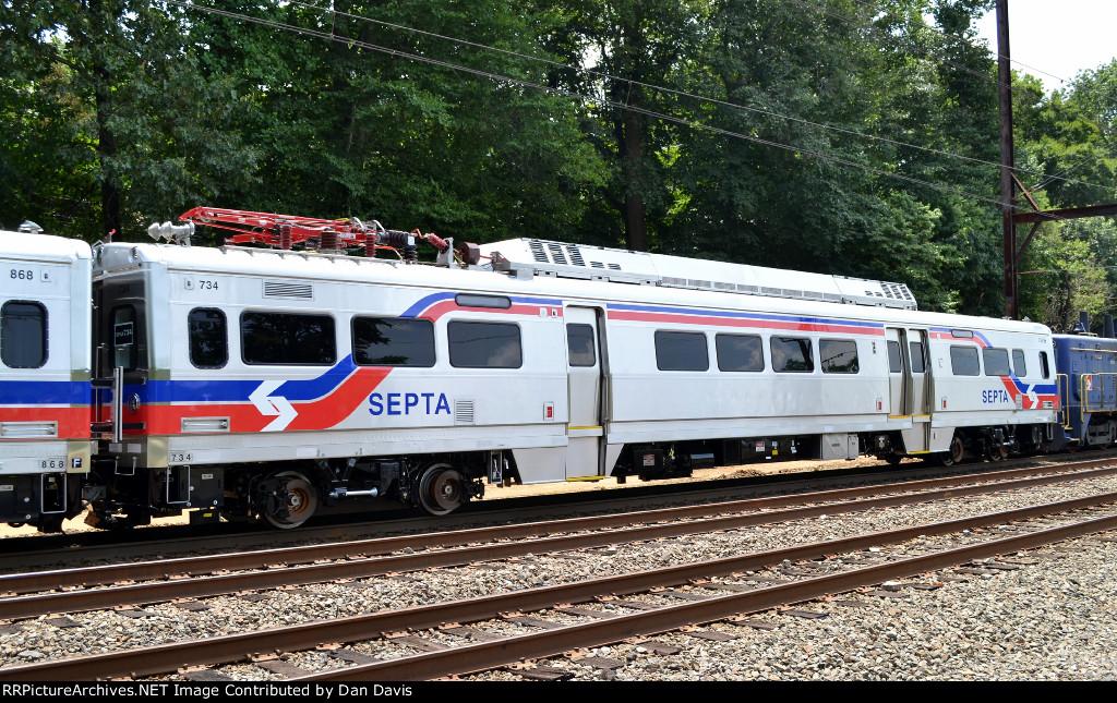 Brand new Silverliner V 734