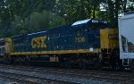 CSX C40-8 7536 in Sparkling YN3 paint