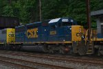CSX SD40-2 8024 trails on Q417-03