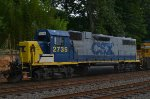 CSX GP38-2 2735 trails on Q417-03