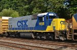 CSX GP15-1 1558 trails on Q439-03