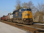 CSX 8732 K598 9:44 am going to turn north towards Toledo