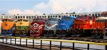 Jersey Central, Reading, Lehigh Valley, Monongahela, Conrail, Norfolk Southern & Interstate at the roundhouse