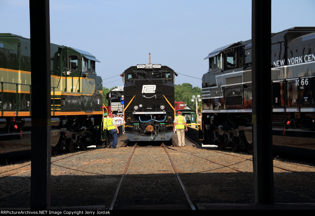 NS 1073 takes a spin on the turntable