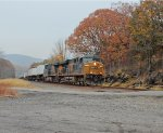 CSX Trailer Train Passes Through Iona Island