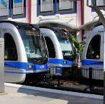 LRV meet at 7th Street Station