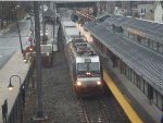 NJT 4660 pulls a train into the south amboy train station