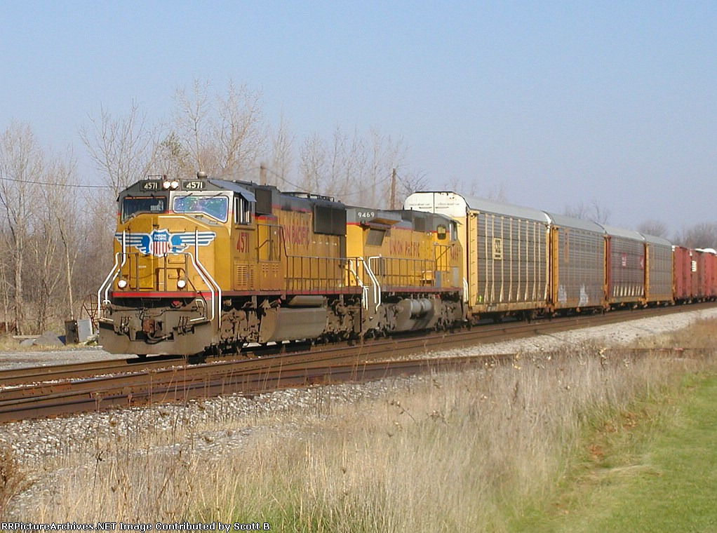 UP 4571 NS171 On The Huntington Line 1:45 pm