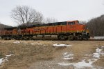 BNSF ES44C4 6625 and C44-9W 4325 near Rushville, Missouri on Christmas Day