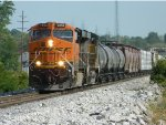 BNSF 7856 Leaving Old Monroe