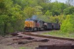 UP 7234 leads a loaded coal train Eb into jeff city,