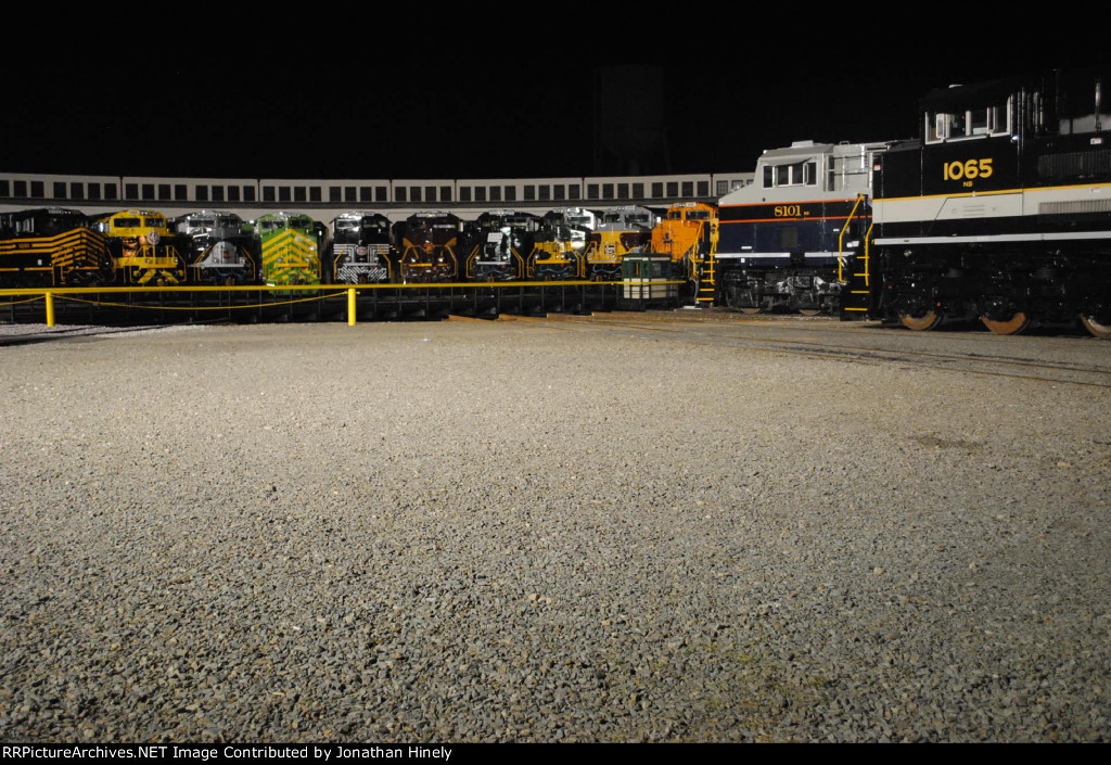 Roundhouse at night