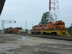 BNSF 4180(C44-9W) 1032(C44-9W) LDRR 1513(CF7) LDRR 2000(GP38) LDRR 1504(CF7)