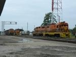 BNSF 4180(C44-9W) 1032(C44-9W) LDRR 1513(CF7) LDRR 2000(GP38) LDRR 1504(CF7)