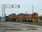 BNSF 4180(C44-9W) BNSF 1032(C44-9W) LDRR 1513(CF7) LDRR 2000(GP38) LDRR 1504(CF7)