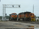 BNSF 4180(C44-9W) 1032(C44-9W) LDRR 1504(CF7)