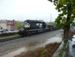 NS 6131 in heavy rain