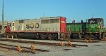 Spare power SOO 6039 and BNSF 3435 Springfield MO