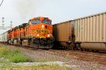 BNSF 5285 leads this NB fright Thur dupo ill.