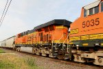 BNSF 5035 is 2nd out in this NB freight.