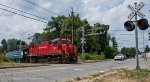 M&E Alco #18 leading up the Caboose Excursion Train through the Deforest Ave Crossing