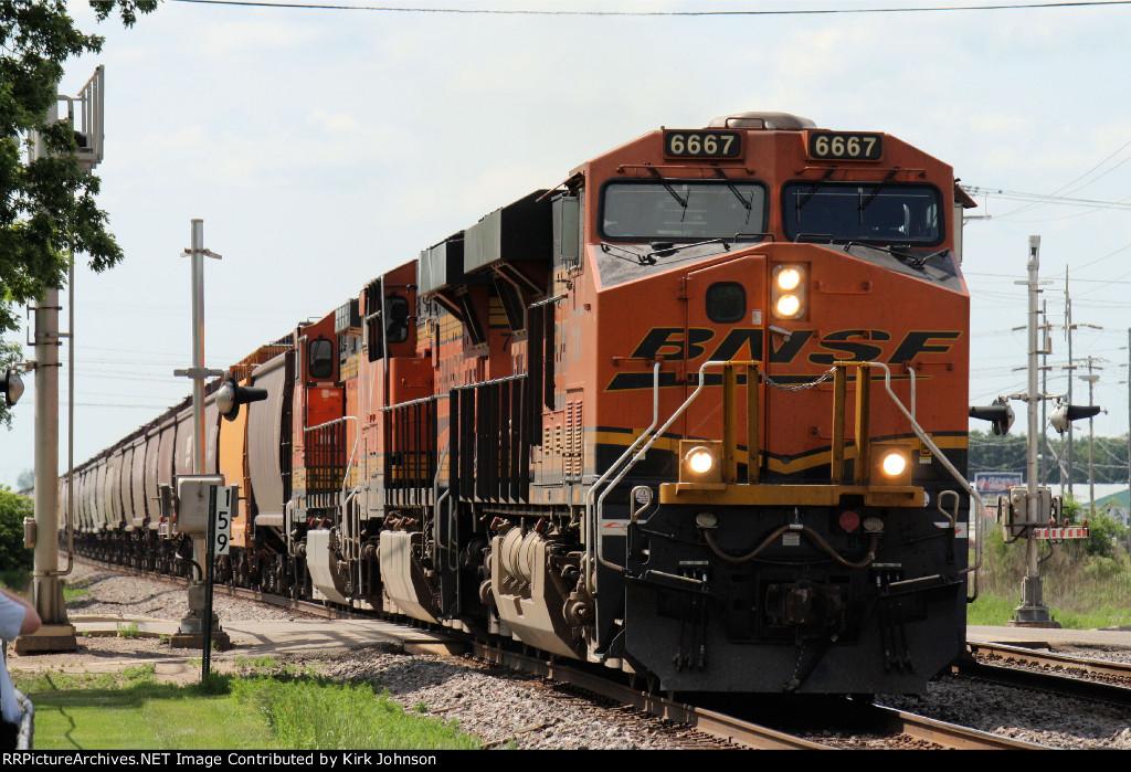 Eastbound BNSF Grain Train