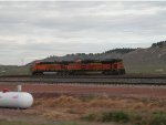 BNSF 6121 and 9136