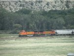 BNSF 5265 and 4870