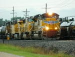 UP 8573(SD70ACe) 4288(SD70M) 7357(AC45CCTE) 4764(SD70M)
