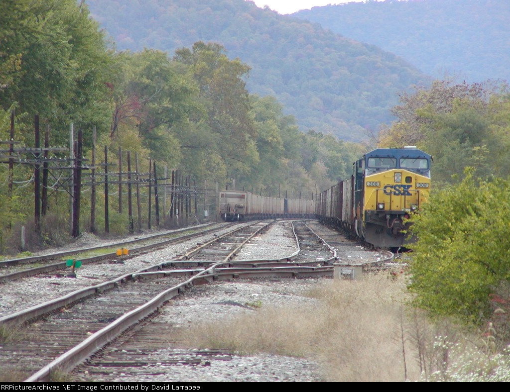 Westbound headed for Harpers Ferry,