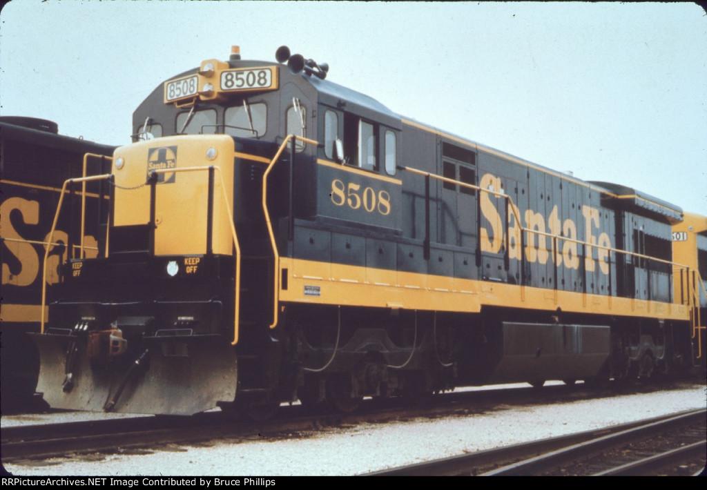 Atsf 8508 Santa Fe U33c In 1969
