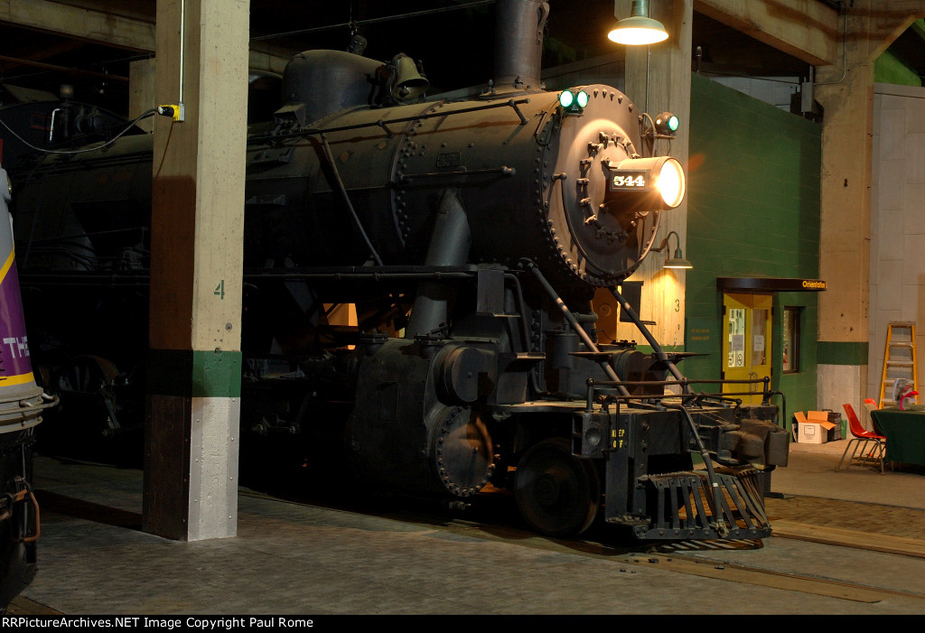 SAL 544, 2-10-0 Steam Locomotive, on display in the roundhouse at the North Carolina Transportation Museum