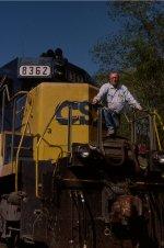 As CSX conductor, 2001(?), E. Aiken siding