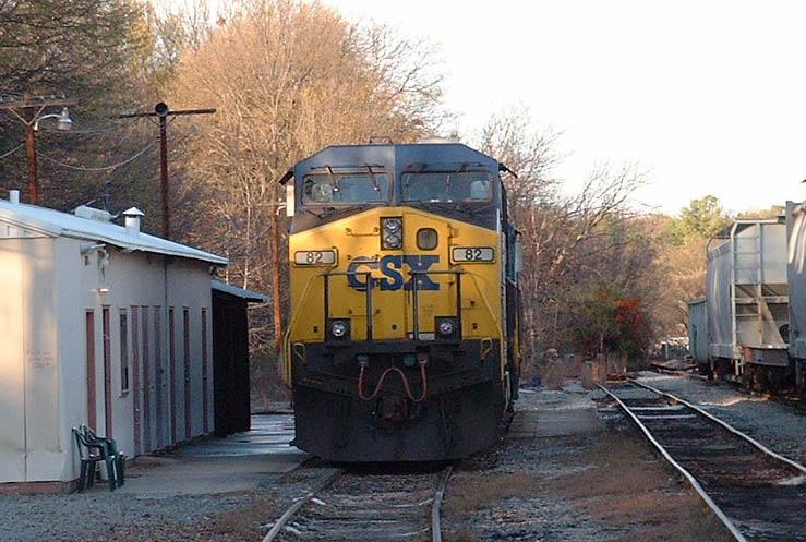 Locomotive in the yard