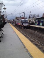NJT 3256 departing Red Bank