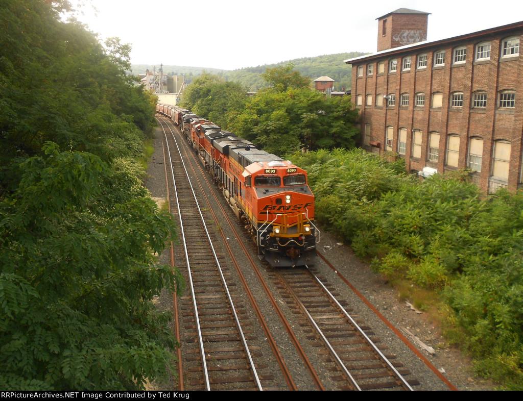 BNSF 8093, 7400, 4348 & NS 6926