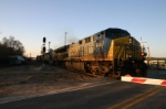 Northbound CSX Q120 creeps through ground zero