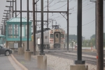 CSS 104 departs after a severe thunderstorm on a steamy July afternoon