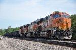 Tied down ballast train