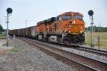 Coal empties enter siding
