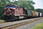 Westbound grain train enters Hunboldt Yard