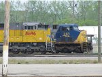 UP 8696 & CSX 241 sit side by side