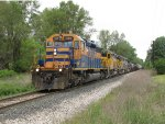 With the train back together after working Michigan Rail, Z151-21 resumes its southbound trip