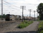 CSX 5413 & 121 shove back into 4 Track with the balance off Q335 that had to be doubled over
