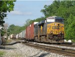 CSX 5405 & 5463 leads Q326 through Lamar and into 2 Track
