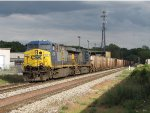 CSX 637 & 5380 bring W082-26 westward onto the double track